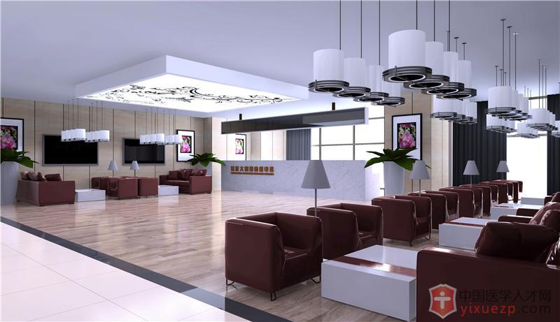 爱康国际安庆健康体检中心-接待大厅成品效果图